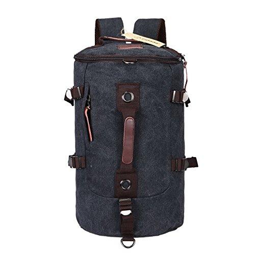 Imagen de fafada bolso  lona saco de viaje bolsa de viaje bolsa de deporte bolsa de libros cartera escolar negro