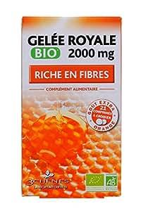 3 Chênes Gelée Royale Bio 2000 mg Riche en Fibres 21 Comprimés