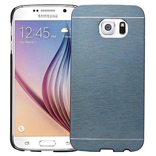 Roar Handyhülle für Samsung Galaxy S5 / S5 Neo Hülle Glitzer, Schutzhülle Hardcase Bumper [Metallic, Hartschale, Gravur-fähiges Aluminium] - Blau