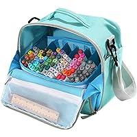 Bolsa de transporte Togood para rotuladores, pinceles, lápices para colorear, libros, artículos para manualidades o artesanía, herramientas, cosméticos, capacidad para hasta 130 bolígrafos