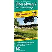 Elberadweg 2, Dessau - Wittenberge: Leporello Radtourenkarte mit Ausflugszielen, Einkehr- & Freizeittipps, wetterfest, reissfest, abwischbar, GPS-genau. 1:50000