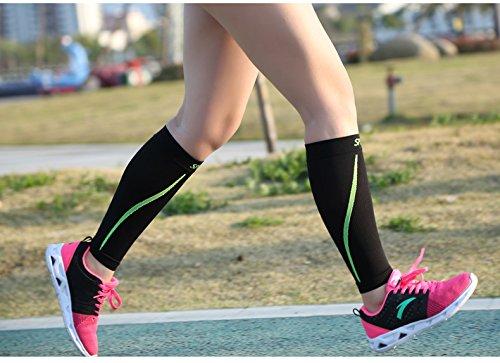 Di Grazia Black Calf Compression Sleeve Leg Performance Compression Socks for Shin Splint & Calf Pain Relief – Medium