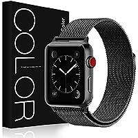 G-Color Correa para Apple Watch 42mm/44mm, Correa de Malla de Acero Inoxidable, Pulsera/Banda de Reemplazo de Apple Watch Serie 1 2 3 4, Hermès/Nike+ Edition