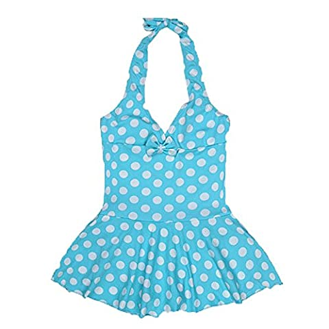 Girls Swimwear - SODIAL(R) Children's Lovely Wave Point One Piece