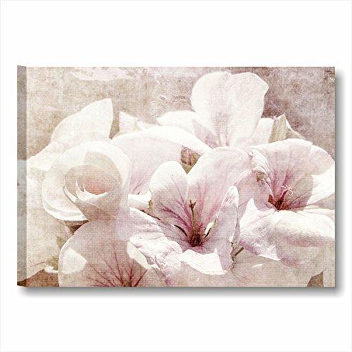 Quadri l c italia fiori vintage 15 quadro moderno su tela 70x50 cm da appendere a perete - Quadri shabby chic camera da letto ...