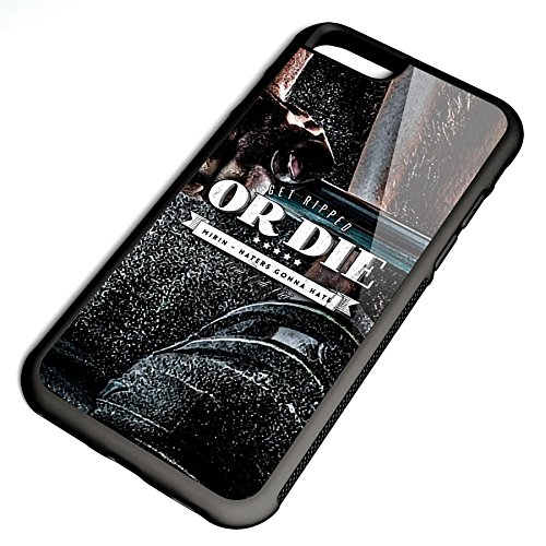 Smartcover Case Get Ripped or Die mirin v3 z.B. für Iphone 5 / 5S, Iphone 6 / 6S, Samsung S6 und S6 EDGE mit griffigem Gummirand und coolem Print, Smartphone Hülle:Samsung S6 EDGE weiss Iphone 6 / 6S schwarz