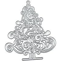Diseño de troqueles de corte de árbol de Navidad, metal, DIY, manualidades,