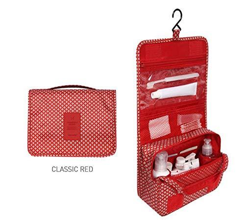 HenLooo Tragbare Reise-Falten Machen Kulturbeutel mit Haken Organizer Taschen Kosmetiktasche,8