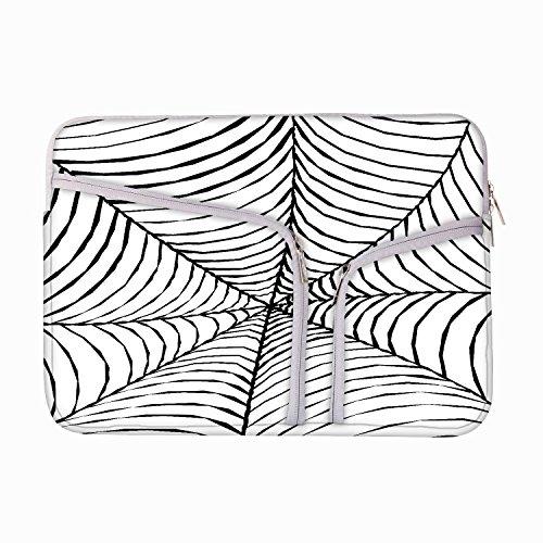 Schwarz Spider Web 8bis 21,8cm Laptop Hülle Sleeve Case mit Reißverschluss und 2integrierten Taschen für Ladegerät und Maus (Spider-laptop-tasche)