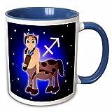 3dRose Cute Astrologie Schütze Sternzeichen Centaur Archer-Two Ton Blau Tasse, Keramik, Mehrfarbig, 10,2x 7,62x 9,52cm