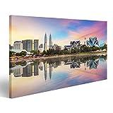 islandburner Bild Bilder auf Leinwand Skyline Kualas Lumpur, Malaysia Bei Titiwangsa parken. Wandbild, Poster, Leinwandbild JNV