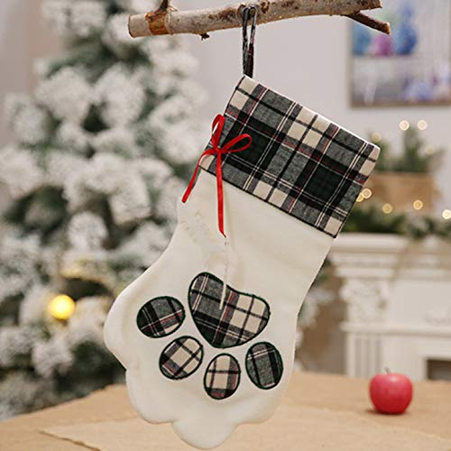 Dishengsg Amazing 2019 New Plaid Bags Pet Dog Cat Pw Socks Christmas Tree Ornaments Special Dark Green.