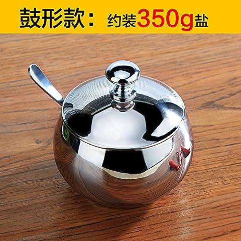 WEIAN 304acciaio inossidabile Spice Jar Kit Drum