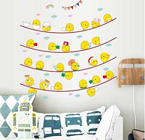 Wandaufkleber Wanddeko Für Wandbilderkinderzimmer Küche Dekoration Kostenlose Aufkleber Cartoon Glückliche Küken Abnehmbare Umweltschutz Dekorative Wandaufkleber -