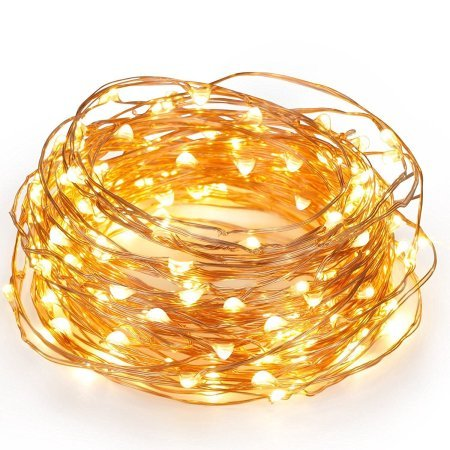 Beauty Lights Copper String Light 5M 50 LED 3 AA Battery Operated Decorative String Fairy Lights
