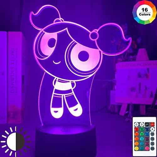 3d nachtlicht Farbwechsel Led Nachtlampe Die Powerpuff GirlBubbleFigure für KidRoom Decor Touch Sensor Led Nachtlicht-7_colors_no_remote