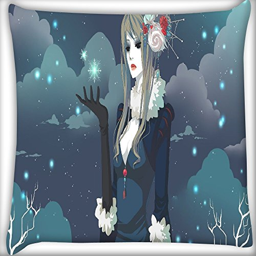 Beige Queen 14 (Snow Queen Home Decor Werfen Sofa Auto Kissenbezug Kissen Fall 35,6x 35,6cm)