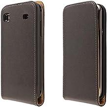 ECENCE 11010201 Samsung Galaxy S GT-i9000 S Plus i9001 Funda Flip Case Cover negro + protector de pantalla incluido