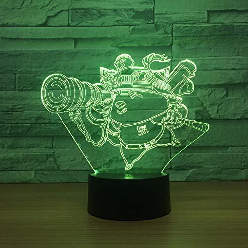 Telescopio Robot luz nocturna 3D Lámpara 3D Touch