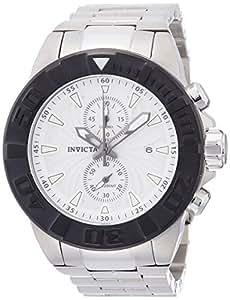 Invicta - 12312 - Montre Homme - Quartz Chronographe - Aiguilles lumineuses/Chronomètre - Bracelet Acier Inoxydable Argent