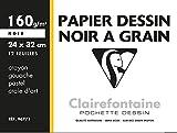 Clairefontaine 96771C Pochette de 12 Papiers à dessin Noir