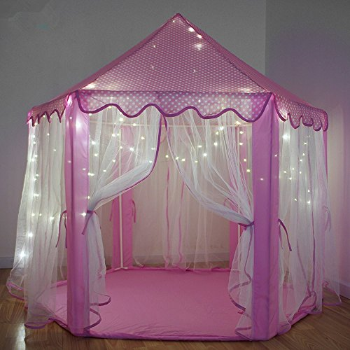 Outdoor Indoor Princess Castle Play Tents Shayson Large Playhouse Kids With 100 LED Lights USB Powered For Festival Fairy Princess Castle Tent ... & Buy Outdoor Indoor Princess Castle Play Tents Shayson Large ...