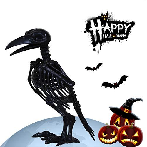 Sisyria Horror Knochen Skelett Rabe, Home Decor Halloween Horror Nächte Party Geschenk Tiere Skelett Skulpturen Handwerk für Süßes oder - Niedliche Kostüm Für Paare Billig