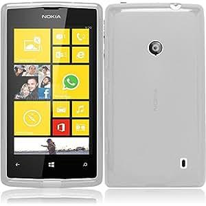 Coque Gel transparent Blanc Nokia Lumia 530 + Stylet + 3 Films OFFERTS