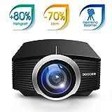 GooDee 1800 Lumens Beamer, Mini Beamer Tragbare Projektor Heimkino Film Video Beamer...