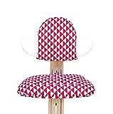 Blausberg Baby - Sitzkissen Set für Nomi Hochstuhl von Evomove - Dreiecke Rot