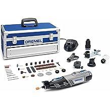 DREMEL 8220 5/65 - Multiherramienta inalámbrica (12 V, 1.5 Ah, 65 accesorios, 5 complementos, maletín aluminio)