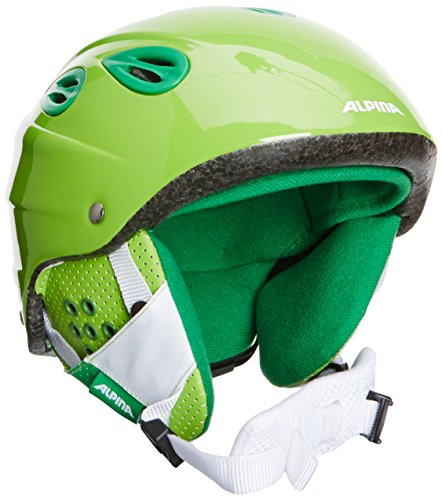 ALPINA Kinder Skihelm Grap Junior, Green, 51-54, 9022172