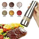 Salt and Pepper Mill Electric Salt and Pepper Grinder Adjustable Grind Coarseness