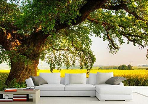 YSDECOR Benutzerdefinierte 3D Tapete Moderne Einfache Tv Hintergrund Bäume Blauer Himmel Wiese Holz Dekorative Wandbild Fototapete Für Wände 3 D -