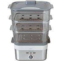 Kenwood FS620 - Cocedor al vapor, 2000 W, 3 cestas rectangulares, capacidad de 12 litros, color gris
