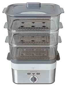 Kenwood FS 620 Vaporiera elettrica 2000 W, timer 60 minuti, 12 l, 3 cestelli trasparenti impilabili con inserti