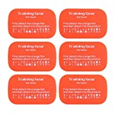 Sanzhileg 6pcs Hydrophilic Adhesive Workout Arm Muskel Fitpad Patch Toning Gürtel Gesunde Gym Trainning Getriebe Gel Blatt Körper - Orange & Rot