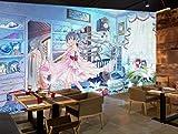3d Chambre Photo Murale Belle Belle Fille Anime Et Manga Peinture 3d Murals Mur Pour Les Murs 3 D Largeur 250cm s Height175cm un
