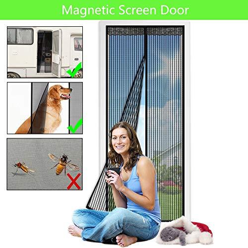 XXYY Moskitonetz mit Magnetverschluss,Magnet Vorhang Fliegenvorhang Moskitonetz für Balkontür Wohnzimmer Terrassentür, Klebmontage ohne Bohren,90x210cm(35x83inch)