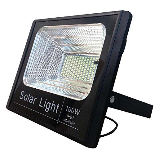 Bed Store® Faro faretto a led con pannello solare da esterno IP67 con telecomando con timer 10w 25w 40w 60w 100w 200w (200)