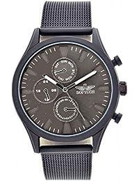 ed22eefd3c9 Softech Men s Gunmetal Bezel Mesh Strap Decorative Chronograph Metal Wrist  Watch Analog Quartz Hook Buckle Clasp