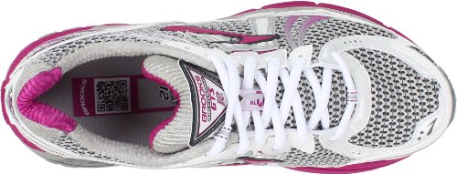 Brooks Adrenalinegts12 W, Damen Sportschuhe - Running Rosa (White/Anthracite/Silver/Vividviola/Black)