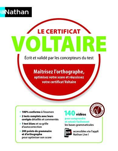 Le certificat Voltaire - La méthode réussite par Estelle Roquetanière
