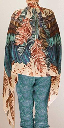 ... erdbeerloft - Damen Chiffonartiger Gemustertes Strandkimono, Cape, Viele  Farben Türkis ...