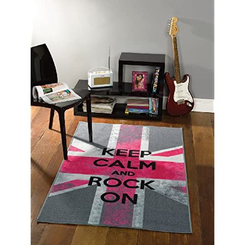 Lord of Rugs - Tappeto moderno grande, motivo: Keep Calm