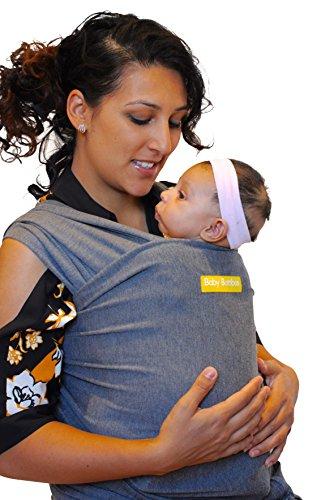 Baby Booboo Panno Fascia Wrap Con Tasca - Imbracatura Porta Bebè Baby Sling Wrap - Morbida Fascia per Trasporto Neonato Soft Baby Carrier - Favoloso Regalo Nascita Bebè (Grigio Antracite)