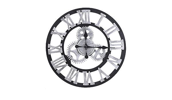 3D Horloge Murale Pendule en Métal Style Vintage Décoration Maison Salon  Restaurant Bureau Bar Cuisine Cadeau(58cm-Silver)  Amazon.fr  Cuisine    Maison a9933af838f2