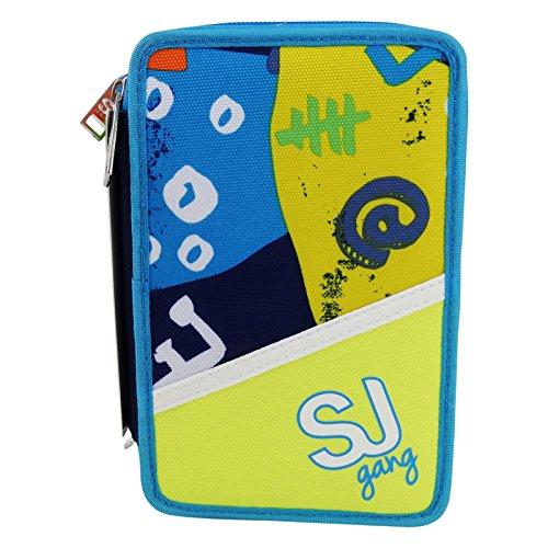 Seven sj gang boy astuccio tre zip portapastelli portapenne colori pennarelli scuola giallo