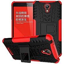 BCIT XiaoMi RedMi Note 2 Cover - Alta calidad Escabroso Durable Estuche protector TPU/PC funda carcasa case para XiaoMi RedMi Note 2 - Rojo