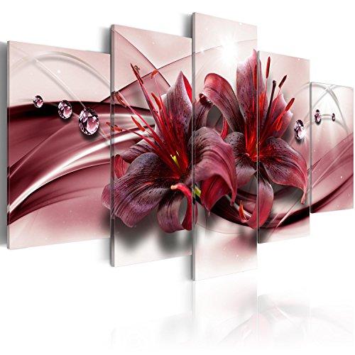 murando - Acrylglasbild Blumen 200x100 cm - 5 Teilig - Bilder Wandbild - modern - Decoration - Blumen Orchidee Abstrakt b-C-0155-k-n